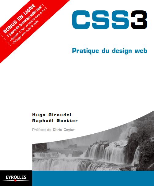 """livre """"CSS3 pratique du design web"""""""